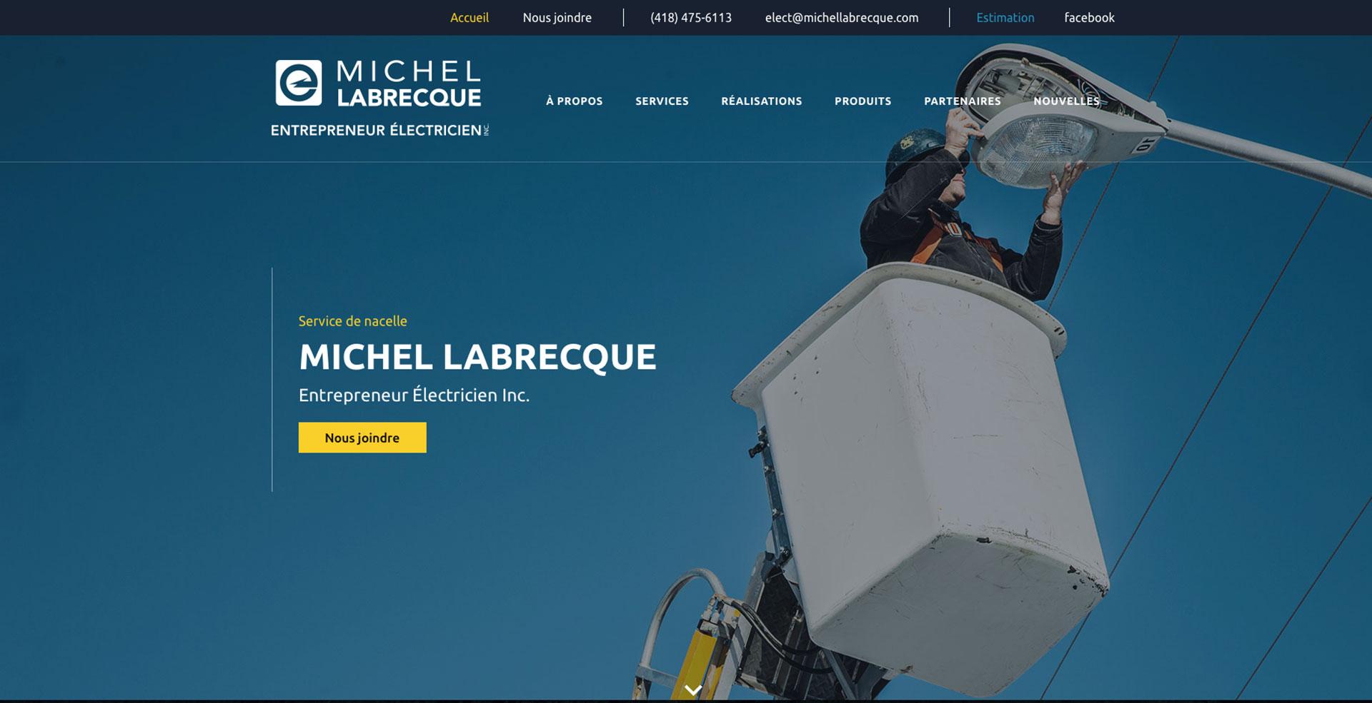 Michel Labrecque, Entrepreneur électricien