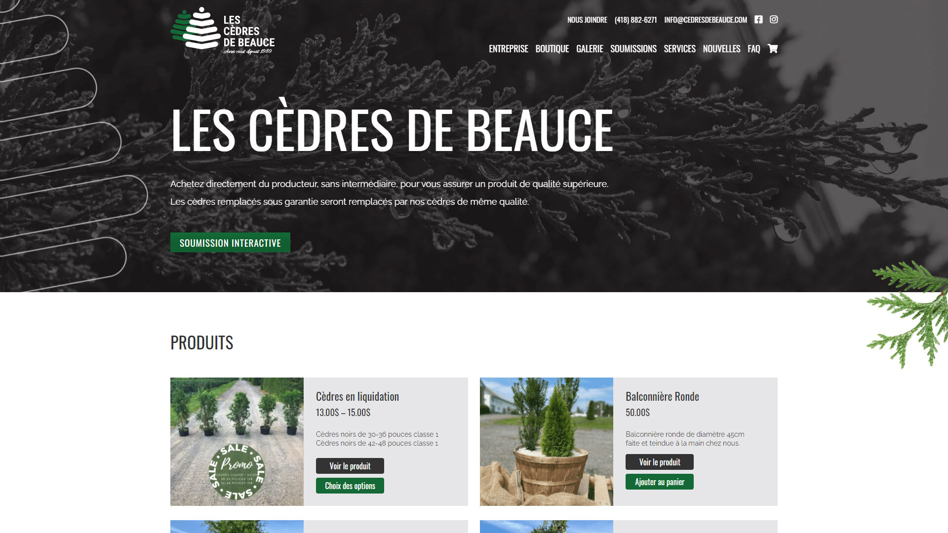 Cèdres de Beauce