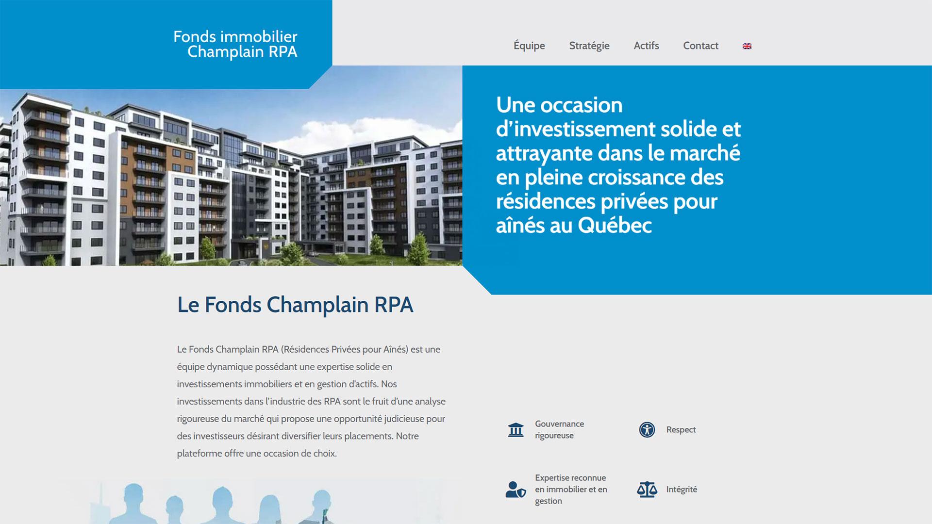 Fonds Champlain RPA